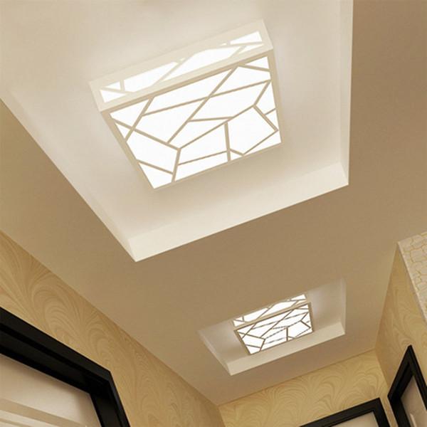 Super Dünne Quadratische Deckenleuchten Innenbeleuchtung Führte Luminaria  Abajur Moderne LED Deckenleuchten Für Wohnzimmer Lampen