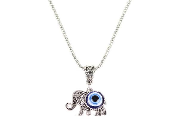 Wholesale fashion jewelry personality exaggerated blue eyes necklace fashion jewelry personality exaggerated blue eyes necklace evil eye elephant pendant necklace aloadofball Choice Image