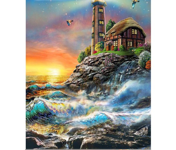 5D Mosaic Diamond Painting Cross Stitch kits scenery castle DIY full Resin square Diamonds Embroidery needlework Home Decor