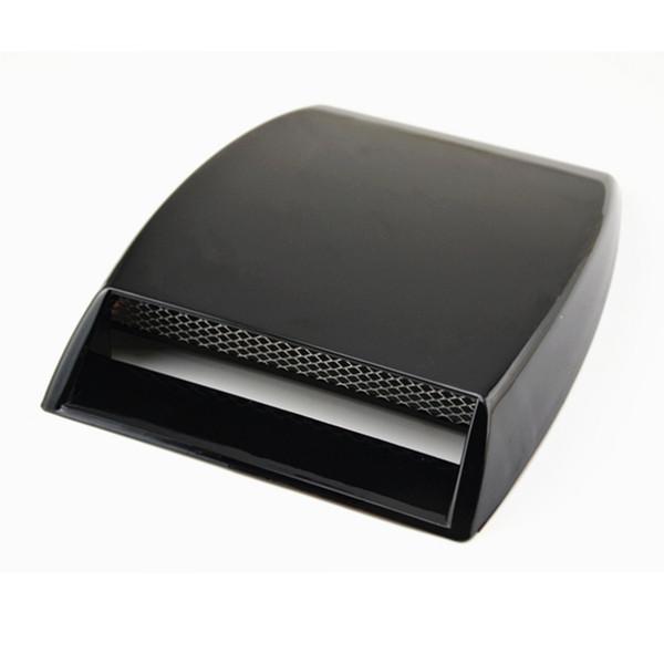 Universal Car decorativo Flujo de aire Toma de admisión Turbo Bonnet Vent Cover capó decorar negro / blanco / plateado Car Styling