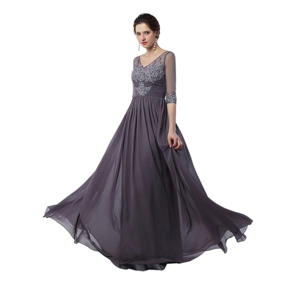 Мусульманские платья выпускного вечера Vestidos сделать Baile De Finalistas 2017 V шеи Сексуальная спинки вечернее платье мать невесты длинные платья