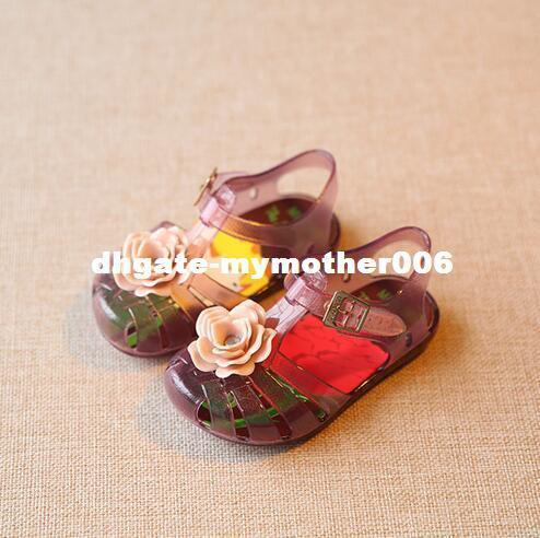 Mini SED Girl Flower Baby Jelly Shoes Plain Rain Boot Toddler Kids Children Beach Princess
