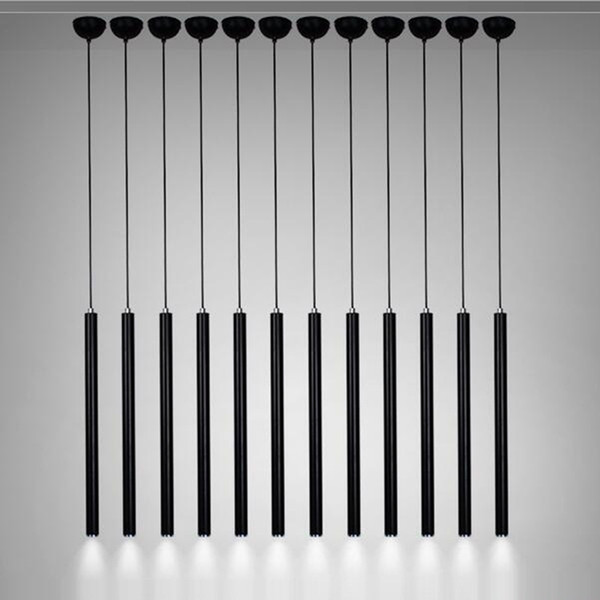 Lampade a sospensione creative, lampada da cucina moderna Sala da pranzo Bancone bar Luci a sospensione da cucina Lampadina da cucina, Cilindro in alluminio