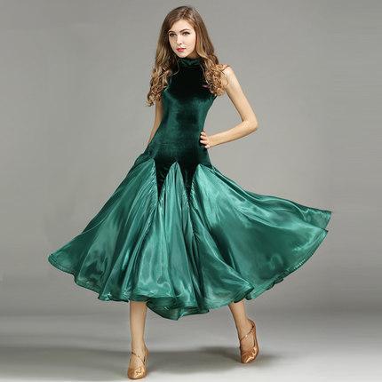 d3d377651 Compre Las Mujeres Bailan Vestido Estándar De Baile De Salón De Disfraces  Vestidos De Trajes Para Mujeres Big Swing Tango / Waltz Dancewear 2017 ...