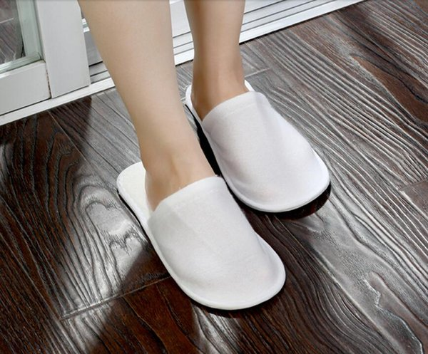 Cheapest nice quality soft one-time slippers disposable shoe home white sandals hotel babouche travel shoes 120pcs