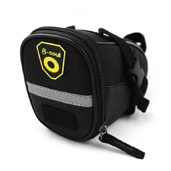 Wholeslae Bike Accessories Bicycle Tail Bag Mountain Bike Saddle Rear Bag Bicycle Back Bags Waterproof Zip Bag Free Shipping
