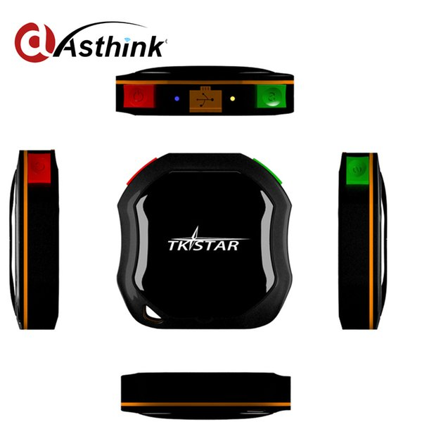 2017 Nueva llegada Samllest GPRS GSM GPS Rastreo Chip Dog Pet kids Personal TKStar con teléfono móvil Track add Waterproof