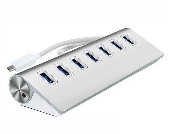 TypeC USB 3.1 Hub Adaptateur Hub ultra-mince de type c à plusieurs ports 7 ports pour nouvel ordinateur portable tablette Macbook