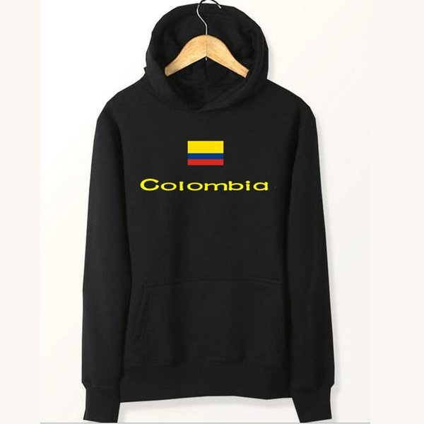 Colombian flag hoodies Pure red black color sweat shirts Country fleece clothing Pullover sweatshirts Outdoor sport coat Brushed jackets