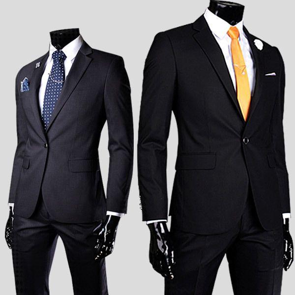 Size M-3XL Denim Business Formal Mens Suits Blazers Groom Tuxedos ...