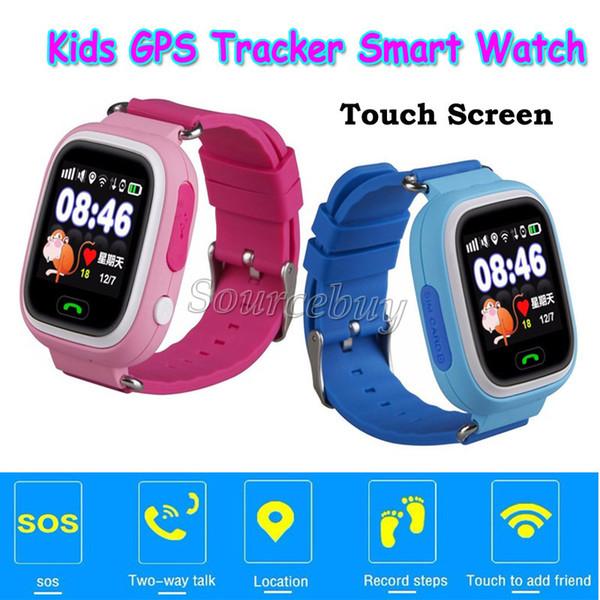 "Smart Kid GPS Watch Kids Children Xmas Gift Q90 SOS Call Location Tracker Wifi 1.22"" Touch Screen SIM Slot Wristwatch Retail Box"