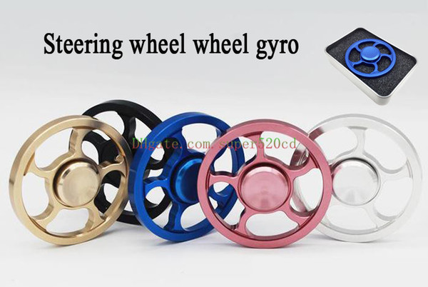 Girador de mano giroscopio Giroscopio redondo volante giroscopio volante rueda de dedos descompresión juguetes