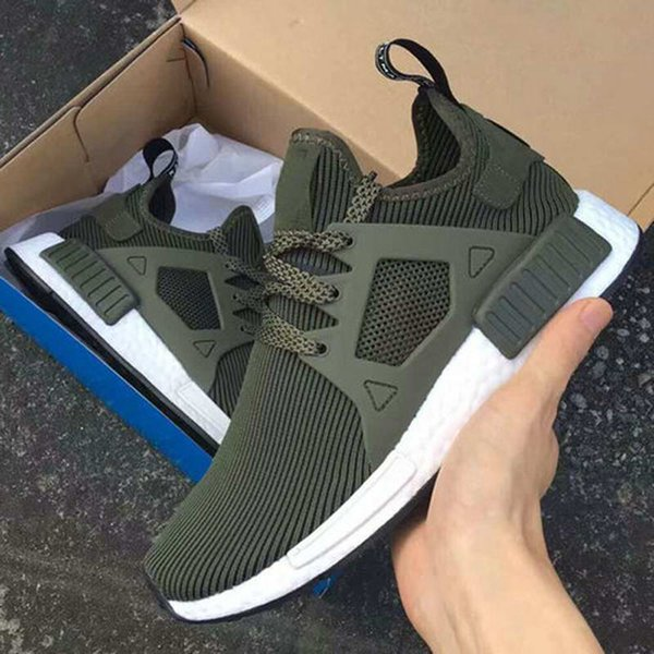 pretty nice ed478 4403f Cheap New Nmd Xr1 Pk Runner Shoes Fall Olive Green Women Men Youth Nmd  Runner R1 Pk Running Sneakers In Black,White,Camo Navy Shoes Blue Shoes  From ...