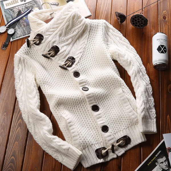 best selling Wholesale- New men fashion brand clothing sweater knit mens sweaters mens wool sweaterknitted sweater