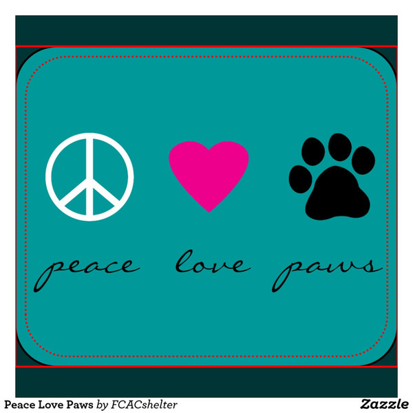 Rectangular Non Slip Natural Rubber Mouse Mat Icon Peace Love Paws Computer  Accessories Office Supplies Mouse Pad Puk Wrist Rest Red Mouse Pad From