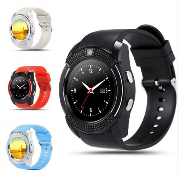 V8 Bluetooth Akıllı Izle Smartwatch Telefon Saatler ile Sim TF Kart Yuvası Saat ios Android Telefon için Bluetooth Bağlantısı I7 / 7 artı s7edge