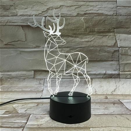 Venta al por mayor 3D Chrismas Elk Lights Night Light USB LED Enseñar ON-Off Decoración de Navidad Mejor regalo Envío gratuito de DHL (7)