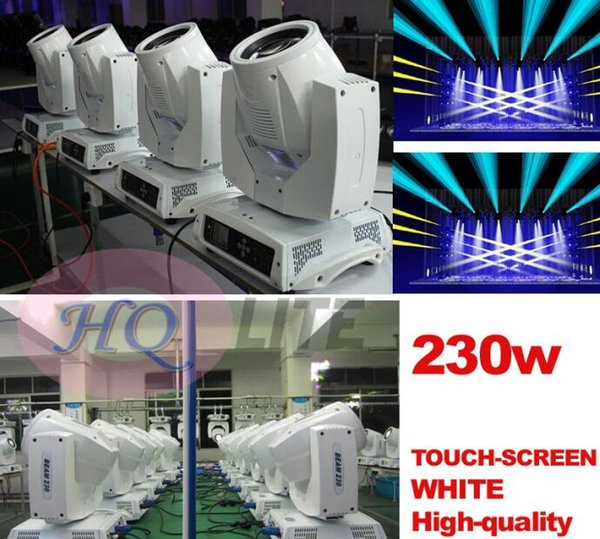 Stage Moving Osram 230w Sharpy 7R Moving Head Beam Light Sharpy Beam 16 Prism White Case Color GOBO wheel smooth dimmer