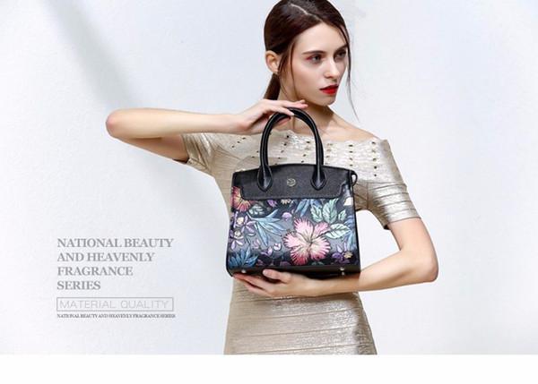 PMSIX 2017 Recién Llegado Bolsos de Cuero Genuino de Las Mujeres Bolsos de Cuero Reales de Moda Nueva Gran Hombro Bolsos Para Mujer P110008