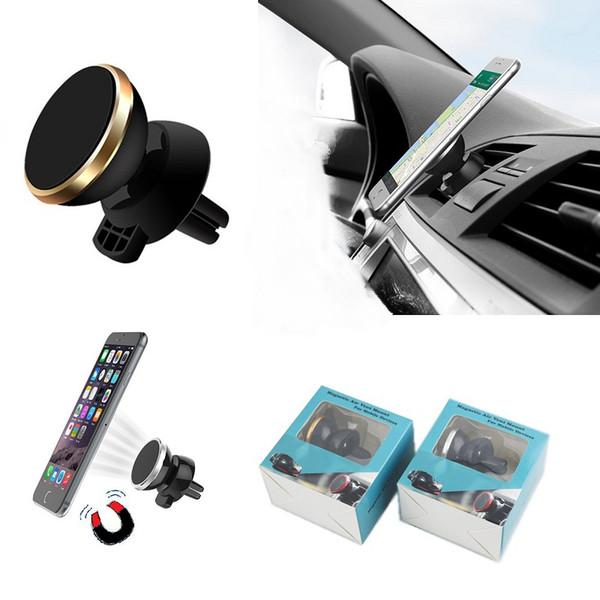 Nueva Universal Magnética Car Cell Phone Holder Car Dashboard Air Vent Montaje de Silicona de Aluminio Soporte de Montaje Smart Device Holder