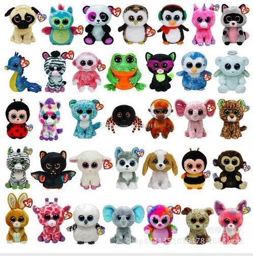 best selling TY beanie boos Plush Toys simulation animal TY Stuffed Animals super soft 6inch 15cm children gifts L001