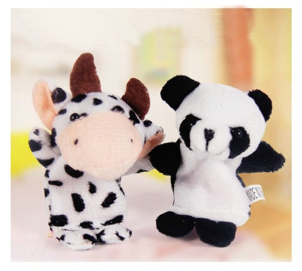 HOT Baby Plush Toy Finger Puppets fashion Stuffed Animals plus animals creative Talking Props 10 animal group 10pcs/set best quality gift 50