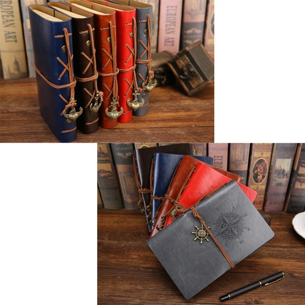 (3 Size) Retro Pirate Ship Traveler Faux Leather Loose-leaf Notepad Notebook For Travelers Sketch Graffiti Diary - 75 Sheets