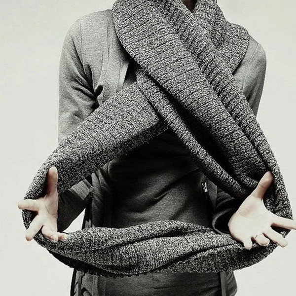 Wholesale- Autumn and winter warm casual men's women pure colour knitting wool scarf high quality new knitted scarf