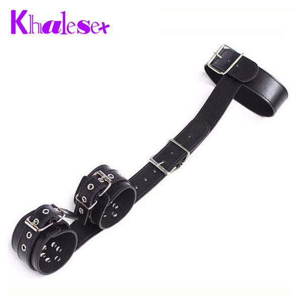 custom sex toys for woman,Leather bound hand and cervical collar restraint bondage women sex products slave leather handcuffs q4201