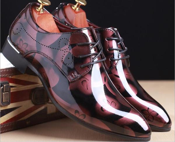 Luxe Italien Véritable Vache En Cuir Hommes Bleu De Mariage Oxford Chaussures À Lacets Bureau Costume Chaussures Pour Hommes