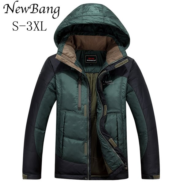 Wholesale- Brand Winter Jacket Men Duck Down Coats With Hoodie Waterproof And Windproof Thickness Warm Parka With Carry Bag