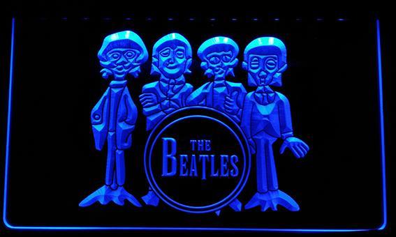 LS076-p The Beatles Drum Band Bar Neon Light Sign.jpg