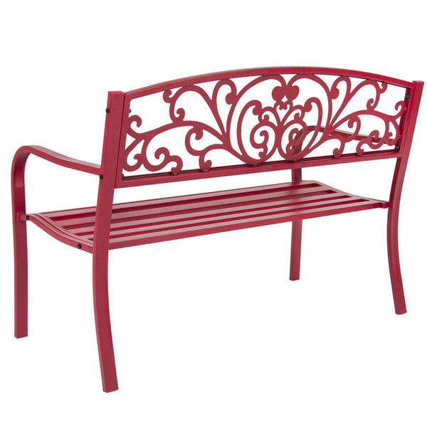 Surprising 2019 Bcp 50 Patio Garden Bench Park Yard Outdoor Furniture Steel Frame Porch Chair From Newlife2016Dh 65 33 Dhgate Com Creativecarmelina Interior Chair Design Creativecarmelinacom