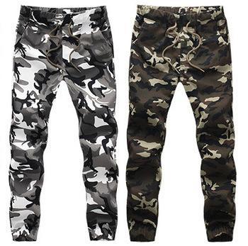 Wholesale-2016 HOT autumn army fashion hanging crotch jogger pants patchwork harem pants men crotch big Camouflage pants SLL0289