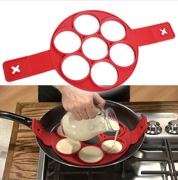 Flippin Fantastic New Pattern Non Stick Nonstick Pancake Silicone Maker Egg Ring Maker Kitchen Hot Fantastic Nonstick Free Shipping 2017