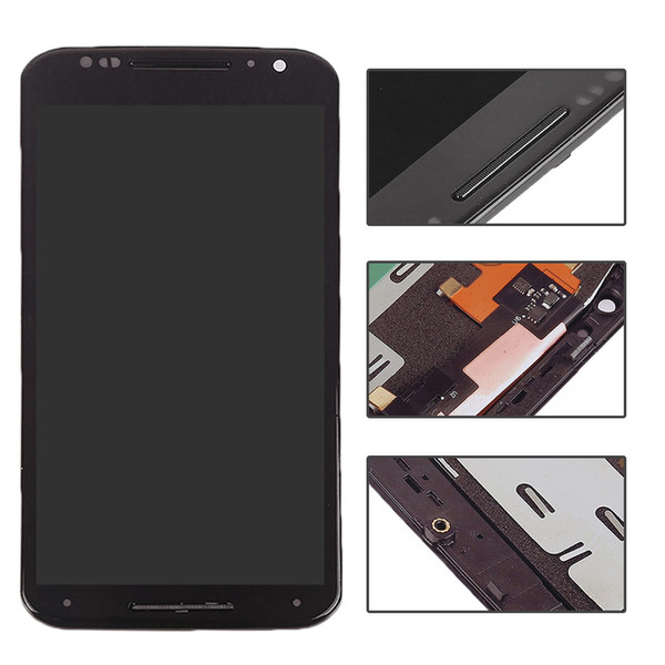 Wholesale- 5.2 inch black For Moto X+1 X2 XT1092 XT1095 XT1097 LCD Display Touch screen Digitizer full Assembly repair part+bezel frame