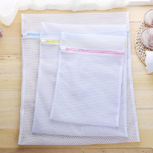 Mesh Laundry Wash Bags (3 Pack) Large, Medium, Small Zippered Washing Machine Bags for Lingerie, Delicates and Bras