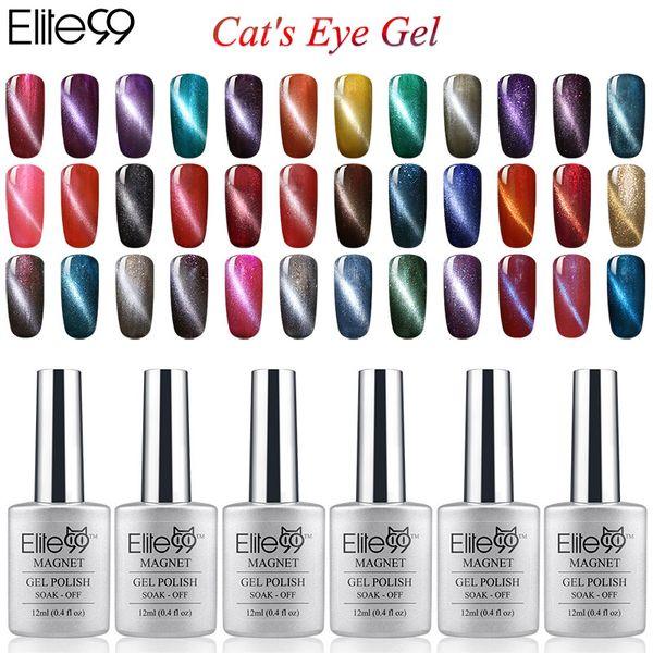 Commercio all'ingrosso 6 pz Colore Magnetico UV Cat Eye Gel Smalto 12 ml Con un Bastone Magnete Gratuito Unghie Manicure Art duratura Lacca