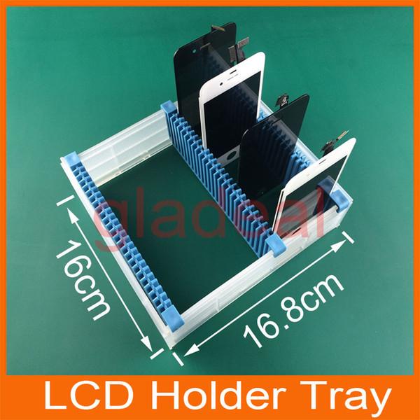 En gros-Universal Slots Anti Statique LCD PCB carte mère Soutien Ajustable Titulaire Plateau Cadre LCD Panneau De Réparation Outil Pour iPhone Samsung