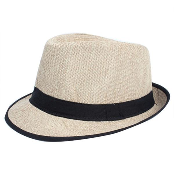Vente en gros - Hommes Femmes Unisexe Summer Beach Top Hat Sun Jazz Gangster Cap