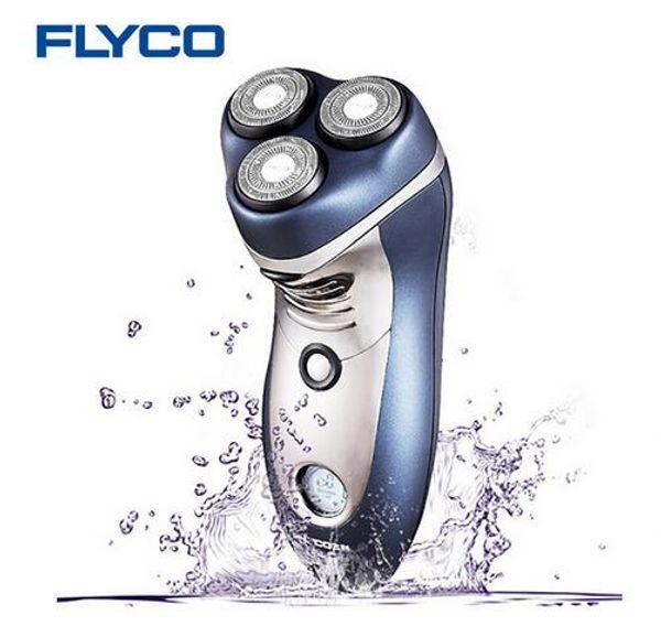 Flyco 3D Intelligent Cutting Head Electric Shaver Body Washable Shaver 110-240v 4W Shaving LCD Triple Blades Razor for Men FS359