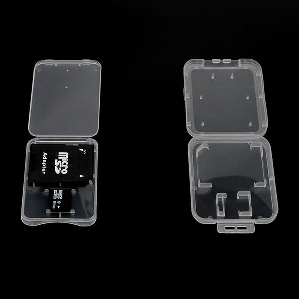 ePacket 3,82 mm ultra mince super mince en plastique carte TF + adaptateur SD boîtier 2 en 1 boîte de stockage carte mémoire idéal pour Royal Mail
