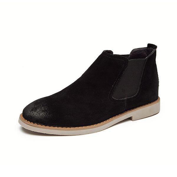 half off 80201 68ba8 Großhandel Chelsea Boots Herren Wildleder Freizeitschuhe Stiefel  Stiefeletten Formelle Schuhe Von Santimon Schwarz Braun Grau Schuhe Von  Weiyawei, ...