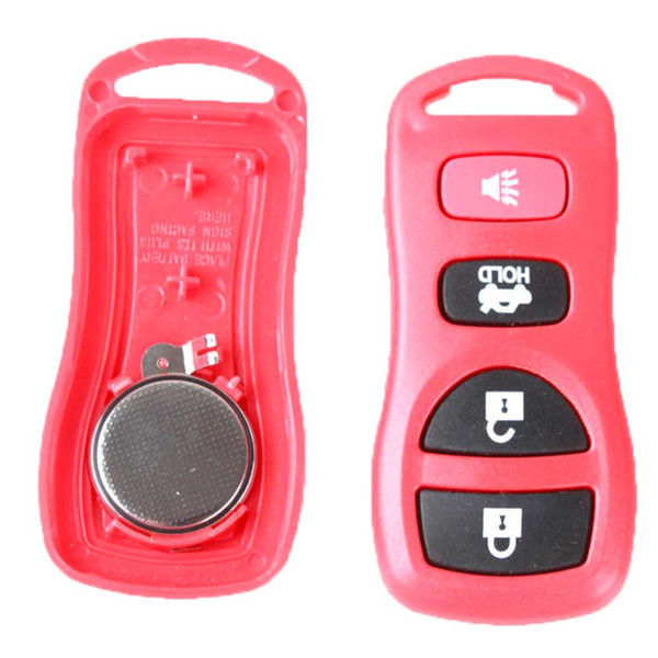 Guaranteed 100% 4Buttons Red Keyless Entry Remote Key Car Fob Clicker Transmitter Clicker Alarm For Nissan Free Shipping