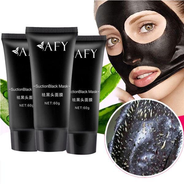2017 AFY suction Black mask nose Acne remover deep cleansing face mask face care nature Pore Cleaner black mud mask 60g