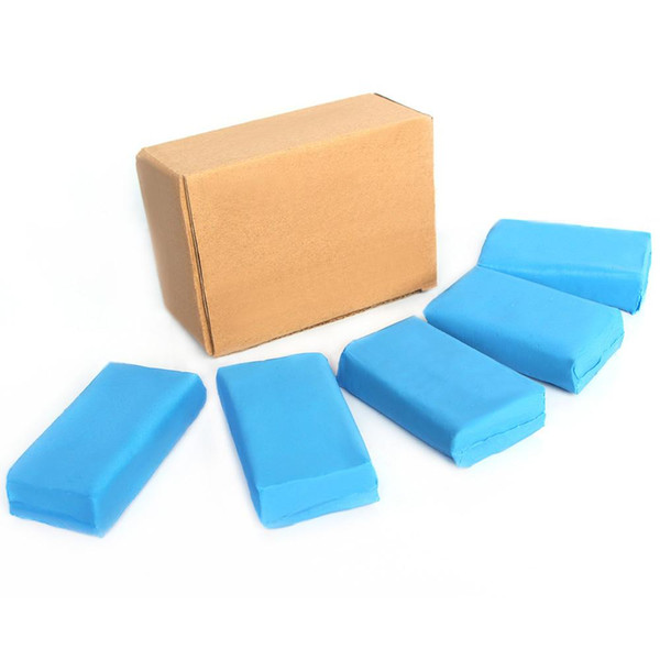 Wholesale- 5pcs 180g Magic Blue Clay Bar for Auto Detailing Cleaner & Car Washer