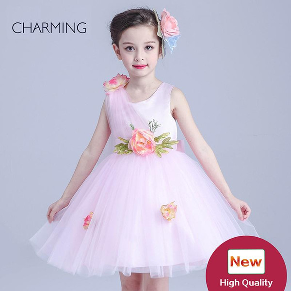pink princess flower girl dresses buy products wholesale Girls pageant dresses china wholesale websites girls dresses sale