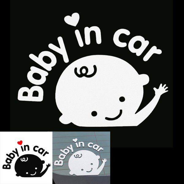 Wholesale Funny Design 3D Cartoon Stickers Reflective Vinyl Styling Baby in Car Warming for Rear Windshield for Cars CEA_30W