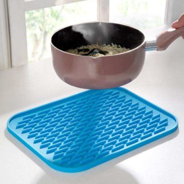 Vente en gros - 22 * 16cm Silicone Pot Titulaire Dessous de plat pot jar ouvreur cuillère Reste Non Slip Durable Résistant À La Chaleur Hot Pads