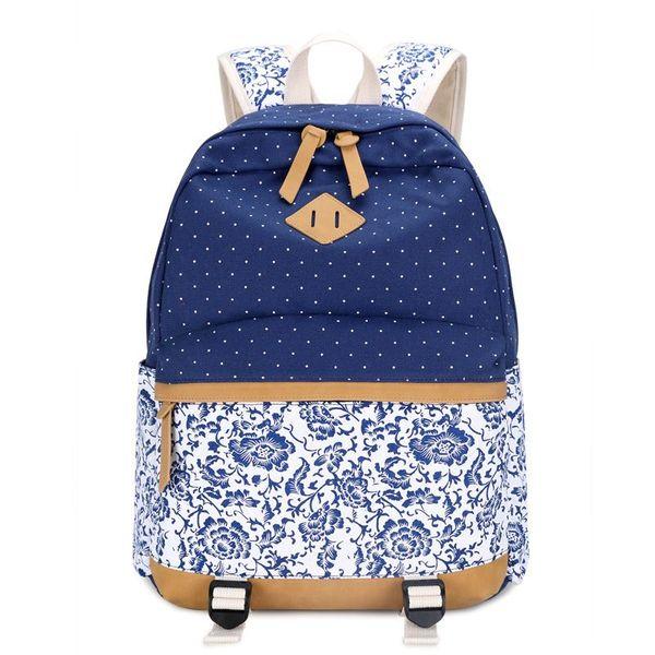 Women Backpack for School Teenagers Girls Vintage Stylish School Bag Ladies Backpack Female Purple Back Pack High Quality